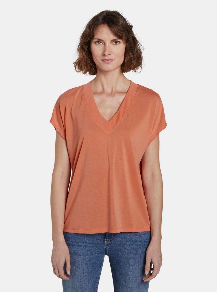 Oranžové dámské tričko Tom Tailor