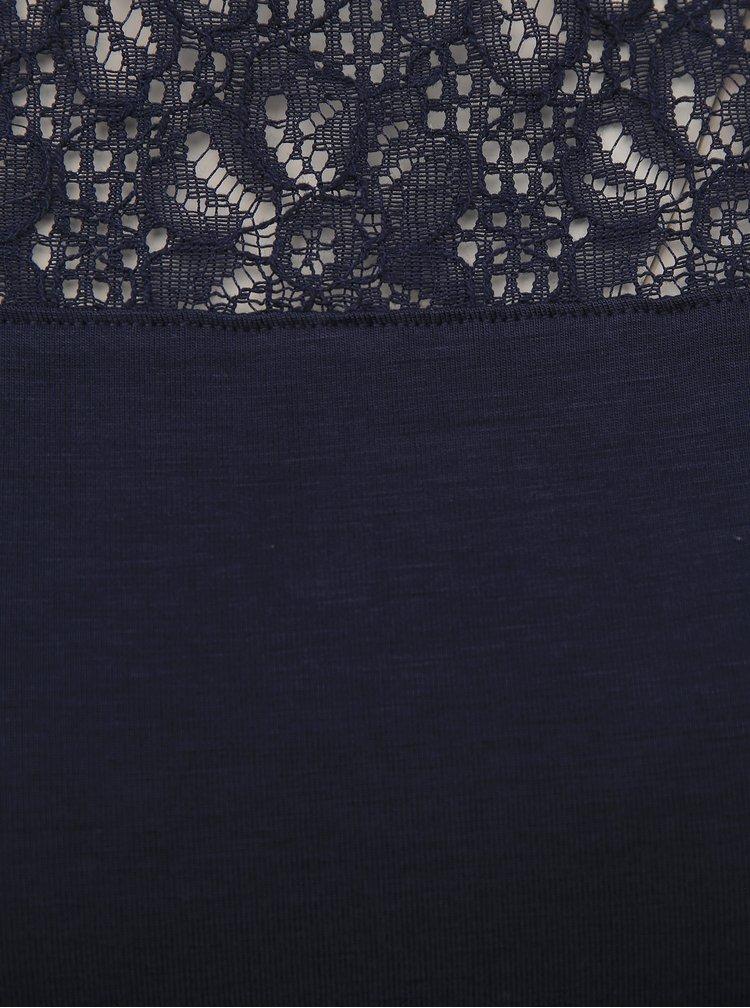 Tmavě modrý top VERO MODA Jasmin
