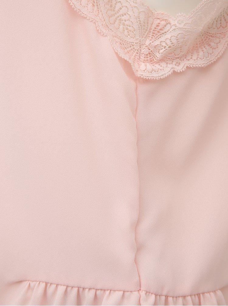Růžový top VERO MODA Jeanne