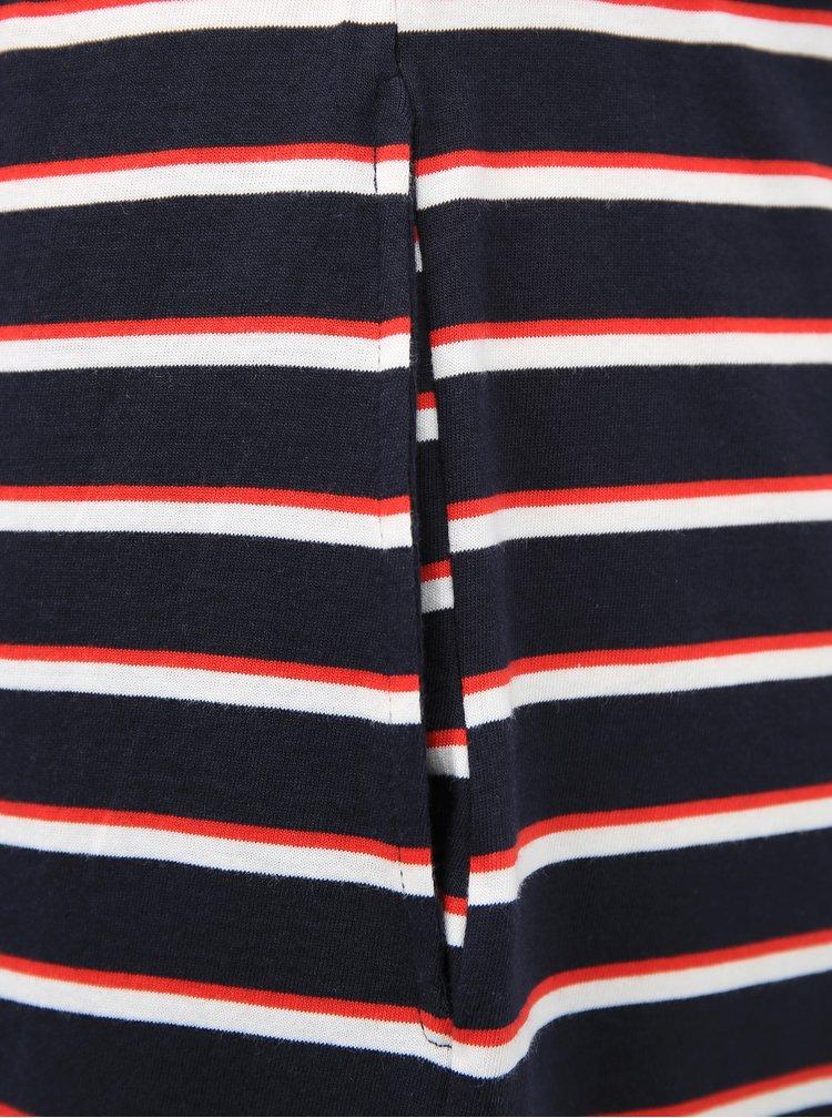Tmavě modré pruhované basic šaty VERO MODA