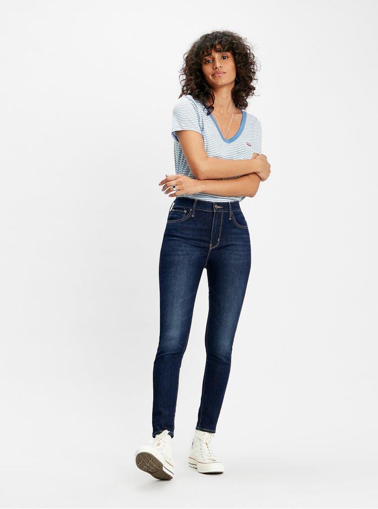 Tmavě modré dámské zkrácené skinny fit džíny Levi's® 720 Cool Fraicheur