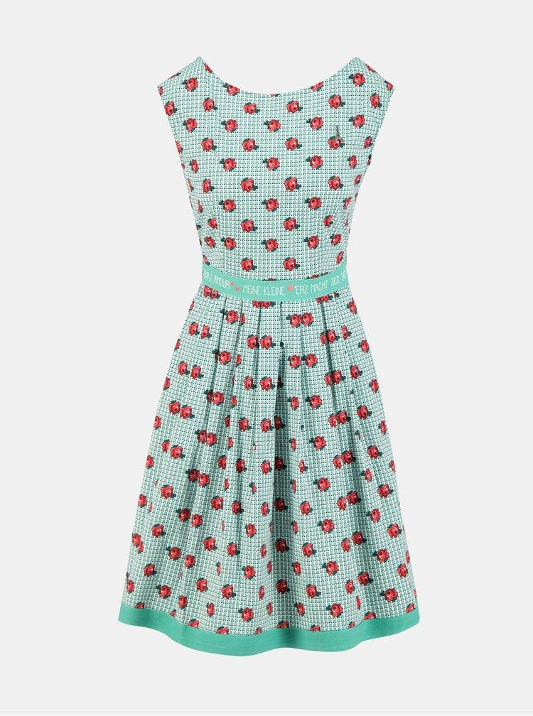 Zelené květované šaty Blutsgeschwister