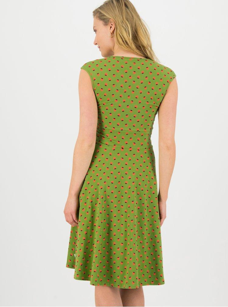 Zelené vzorované šaty Blutsgeschwister