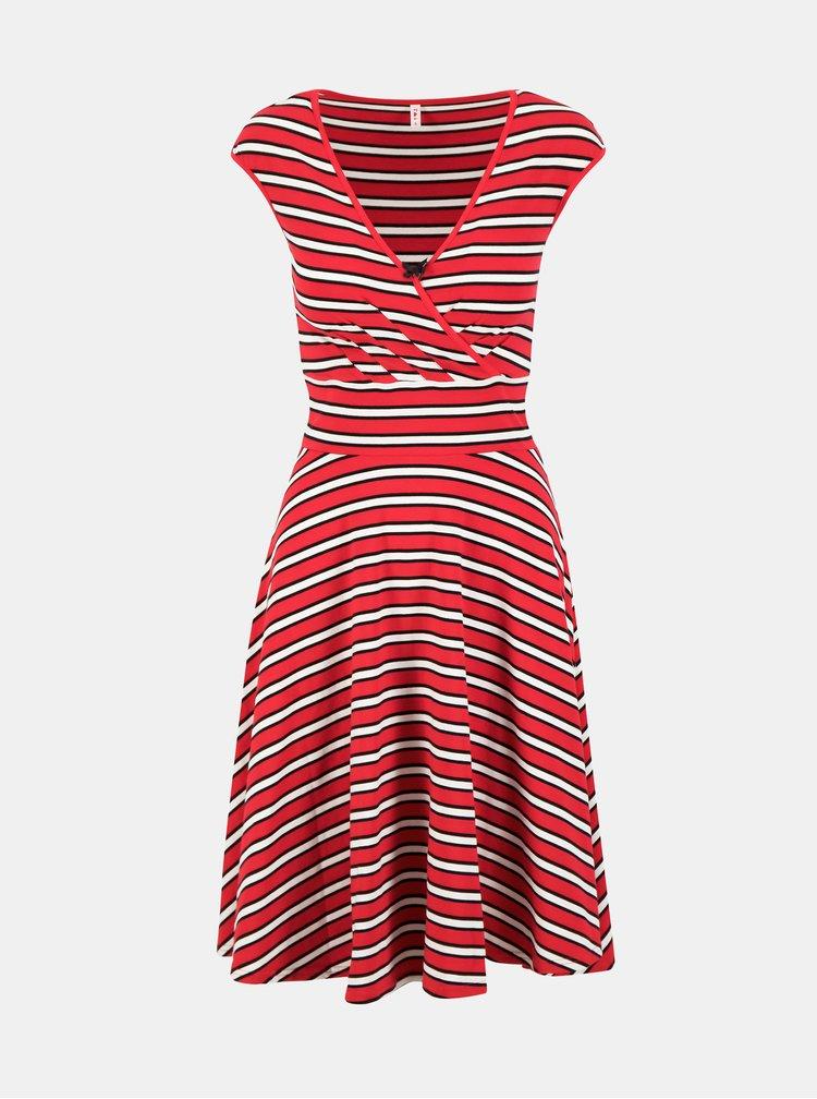 Červené pruhované šaty Blutsgeschwister