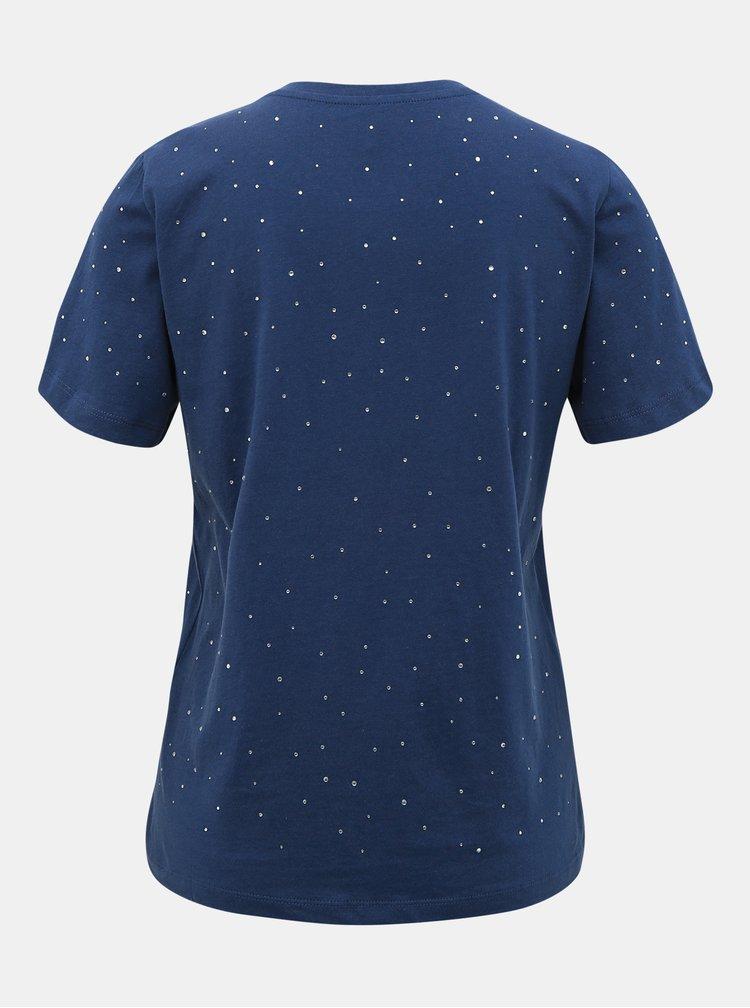 Tmavě modré tričko s ozdobnými detaily ONLY Laguna