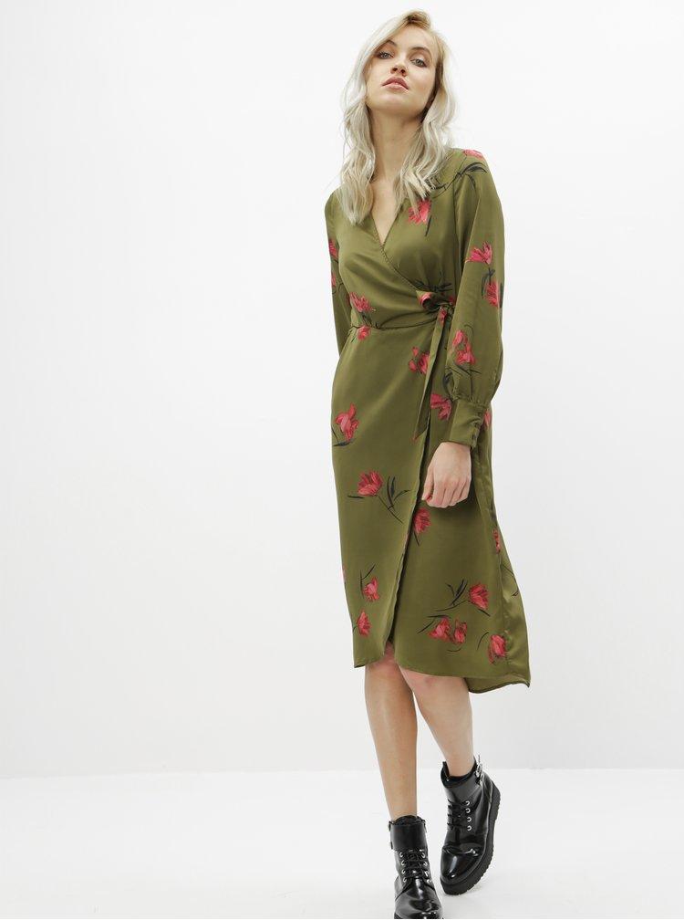 Zelené květované šaty VERO MODA Lola