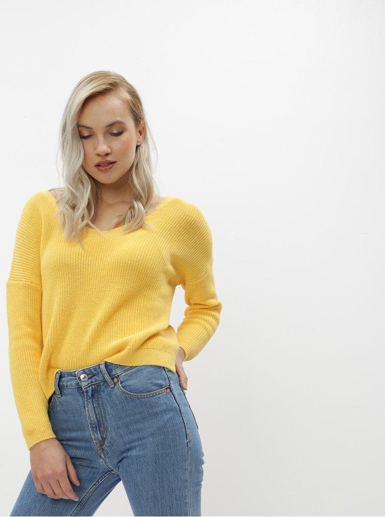 Žlutý oboustranný basic svetr ONLY Fbrynn