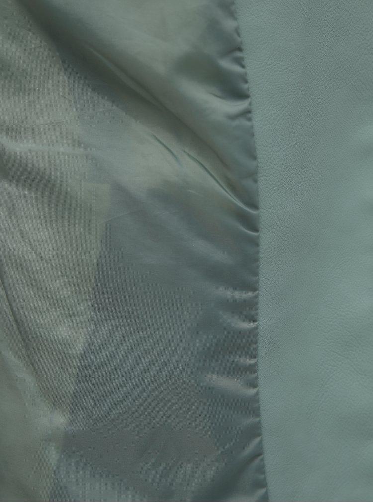 Svetlozelená koženková bunda ONLY Melanie