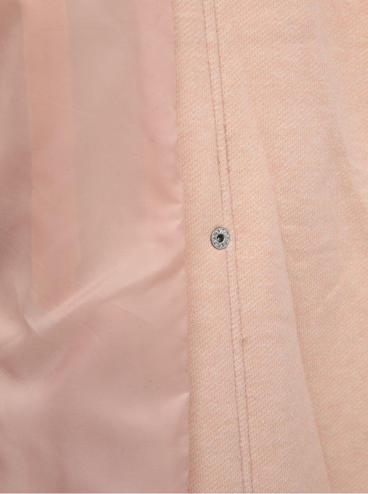 Růžový dámský kabát ONLY Lelli
