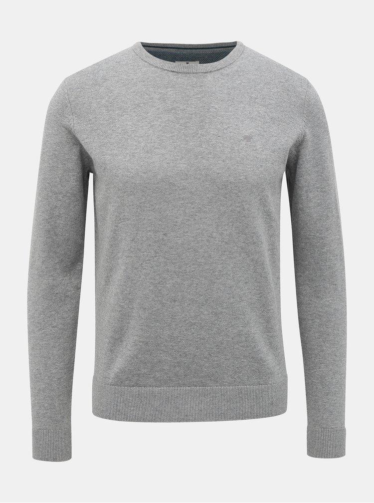 Svetlošedý pánsky basic sveter Tom Tailor
