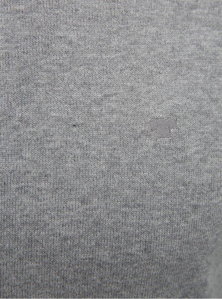 Světle šedý pánský basic svetr Tom Tailor