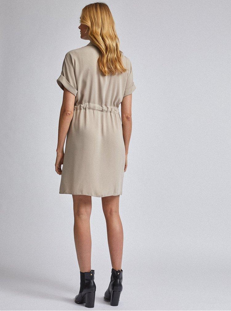 Béžové košilové šaty Dorothy Perkins