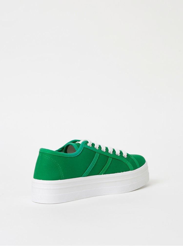 Zelené dámske tenisky na platforme Haily´s Pina