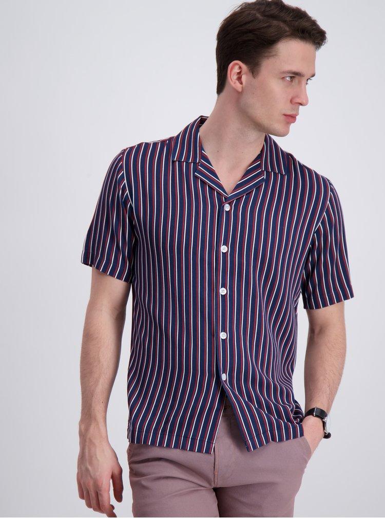 Tricouri cu maneca scurta pentru barbati Lindbergh - albastru inchis