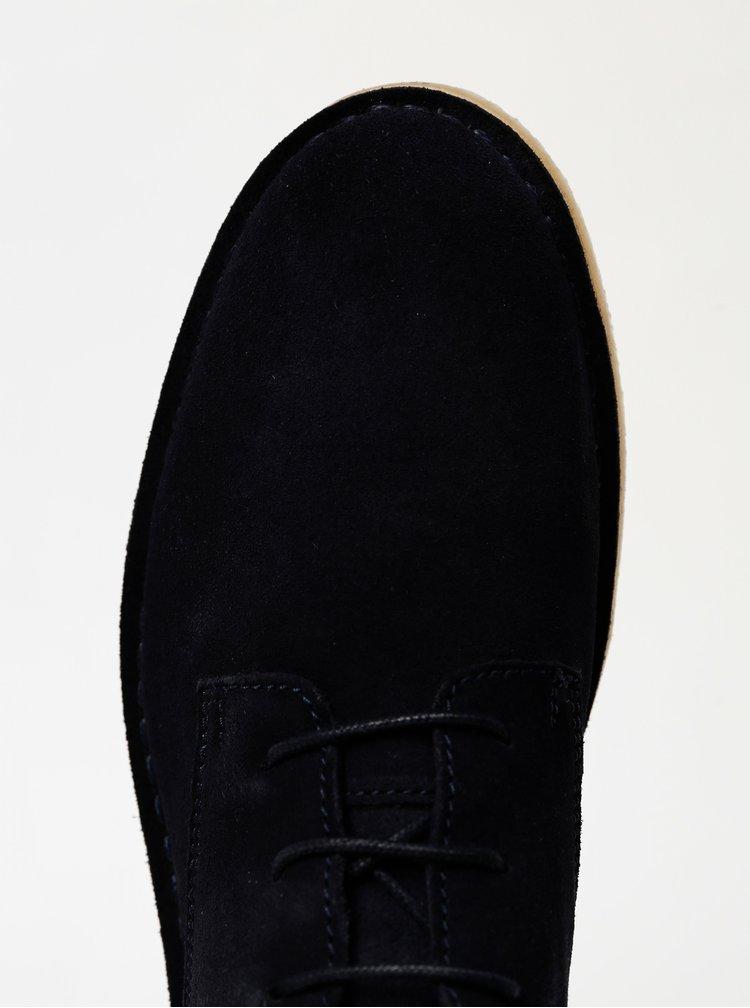 Tmavě modré pánské semišové kotníkové boty Selected Homme Royce