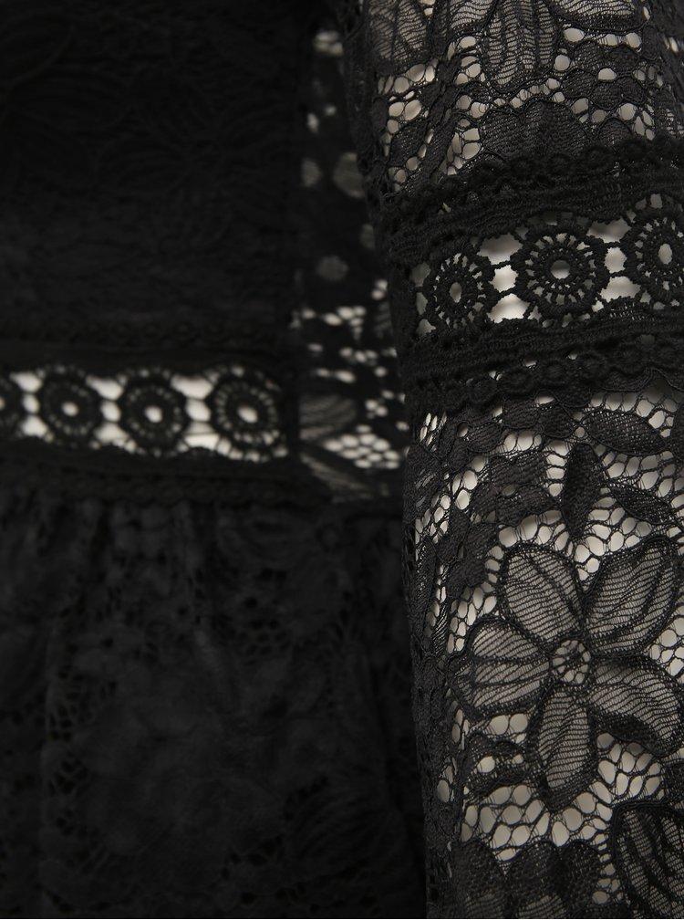Černé krajkové maxišaty Haily´s Cesia