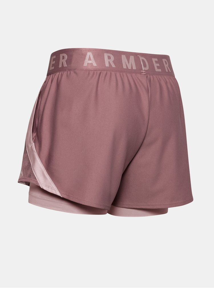 Růžové dámské kraťasy Play Up Under Armour