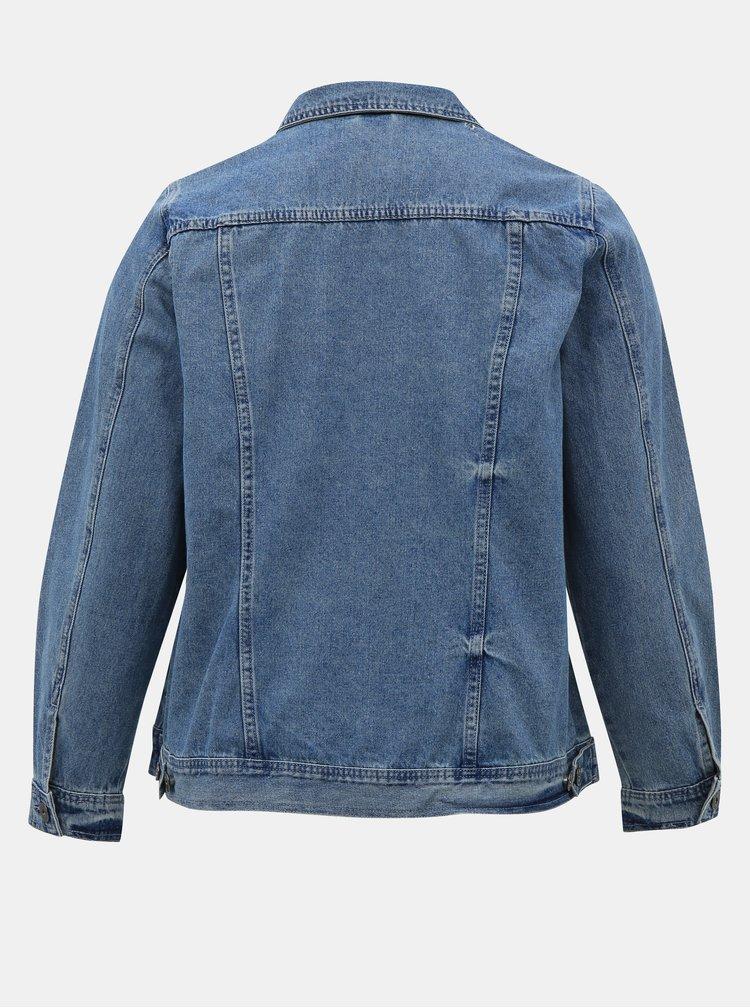 Modrá džínová bunda Zizzi Camille
