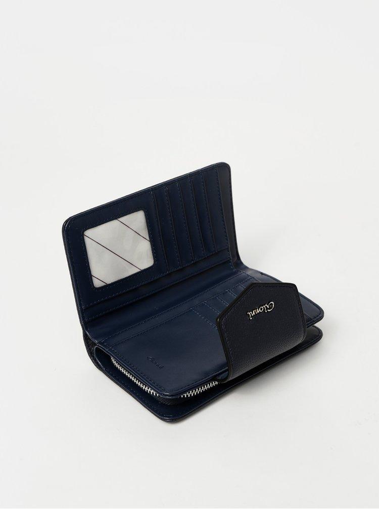 Tmavomodrá vzorovaná peňaženka Gionni Dagari