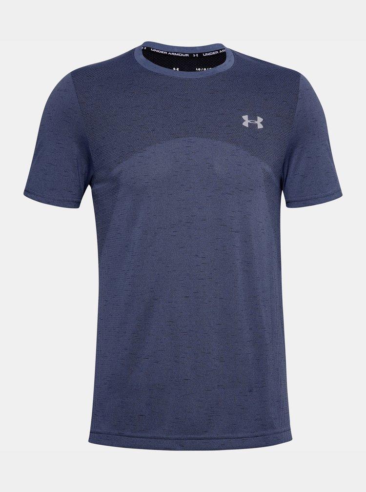 Modré pánské tričko Seamless Under Armour