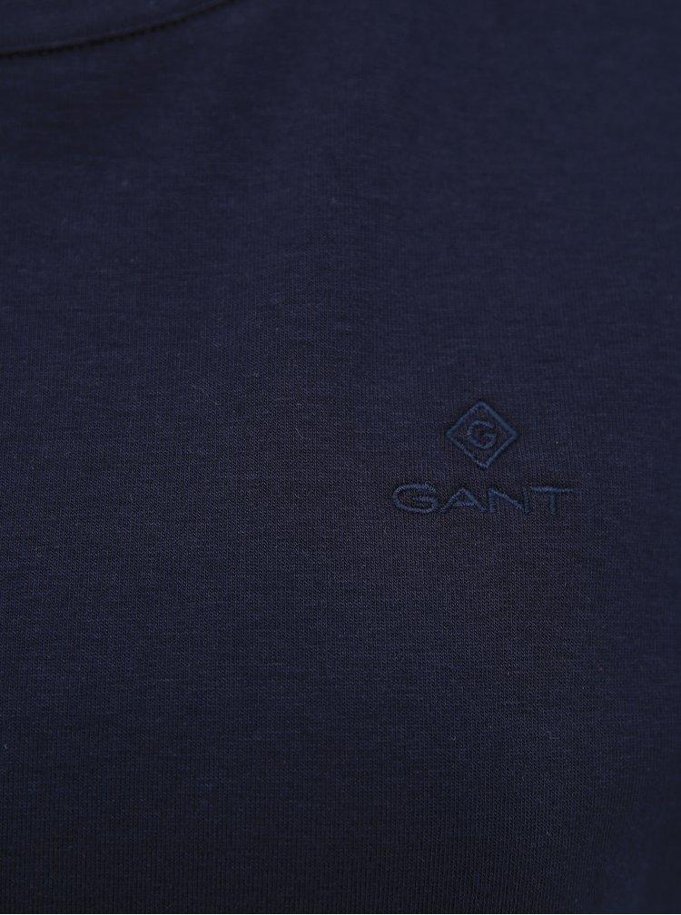 Tmavě modré dámské basic tričko GANT