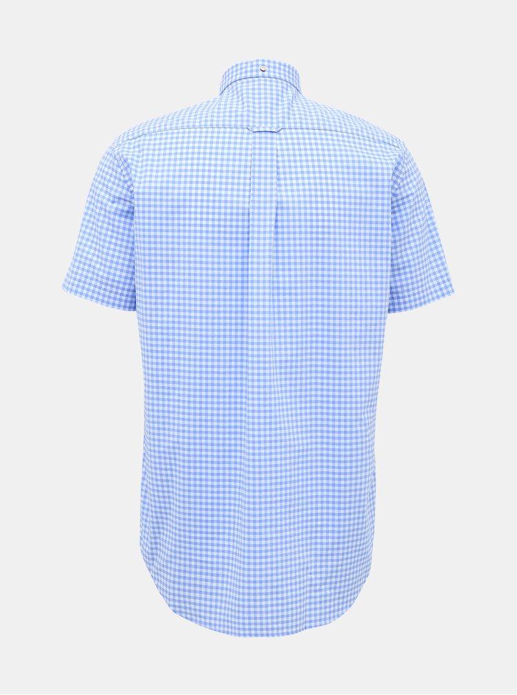 Modrá pánská kostkovaná košile GANT