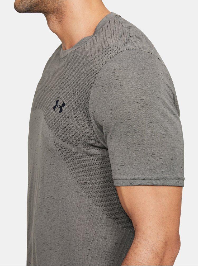 Šedé pánské tričko Seamless Under Armour
