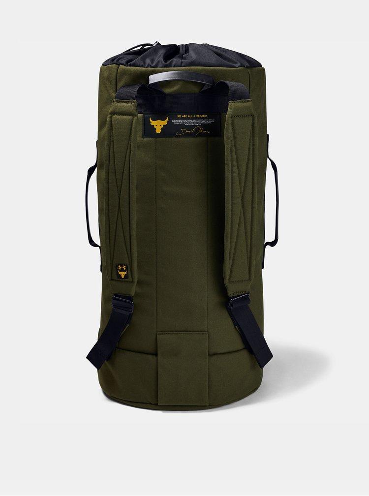 Zelená sportovní taška Project Rock 49 l Under Armour