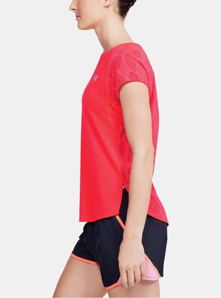 Červené dámské tričko Streaker Under Armour