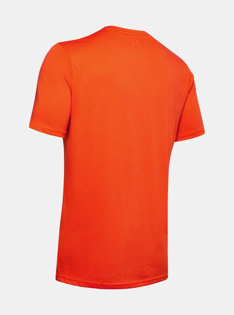 Oranžové pánské tričko Boxed Under Armour