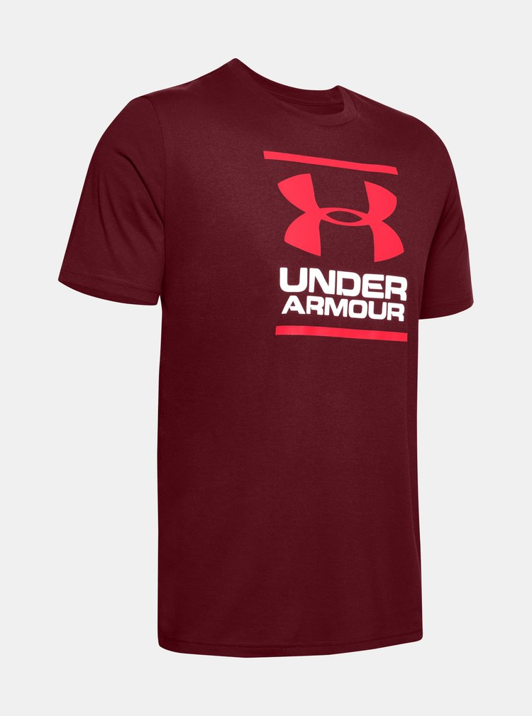Vínové pánské tričko Foundation Under Armour