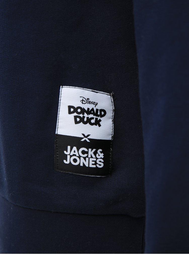 Tmavě modrá mikina s potiskem Jack & Jones Donald Duck