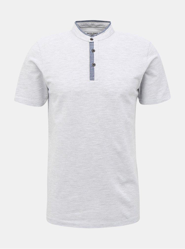 Svetlošedé tričko Jack & Jones Erza