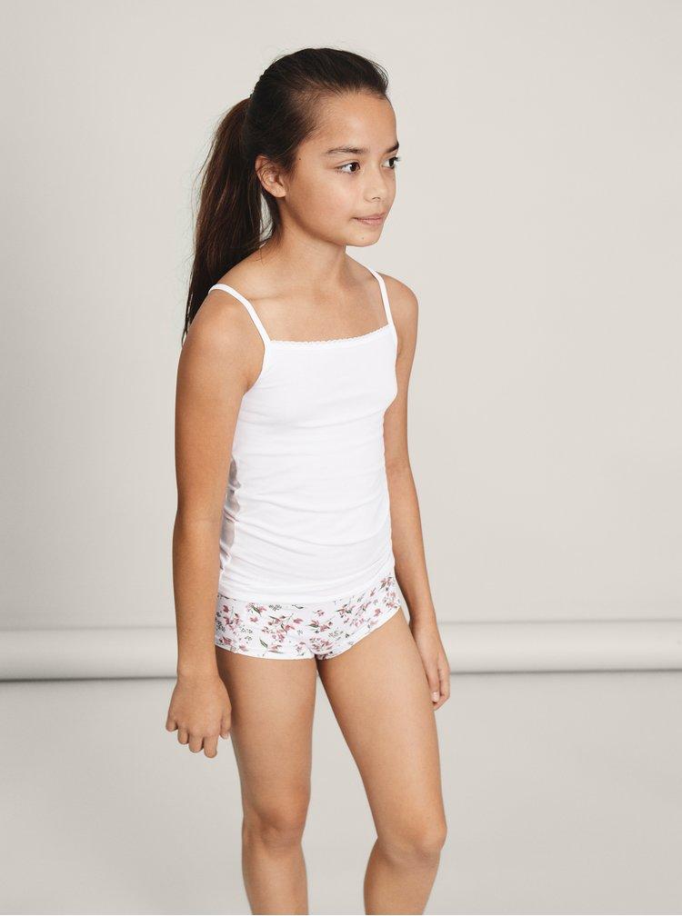 Sada dvoch dievčenských nohavičiek v bielej a staroružovej farbe name it Hipster