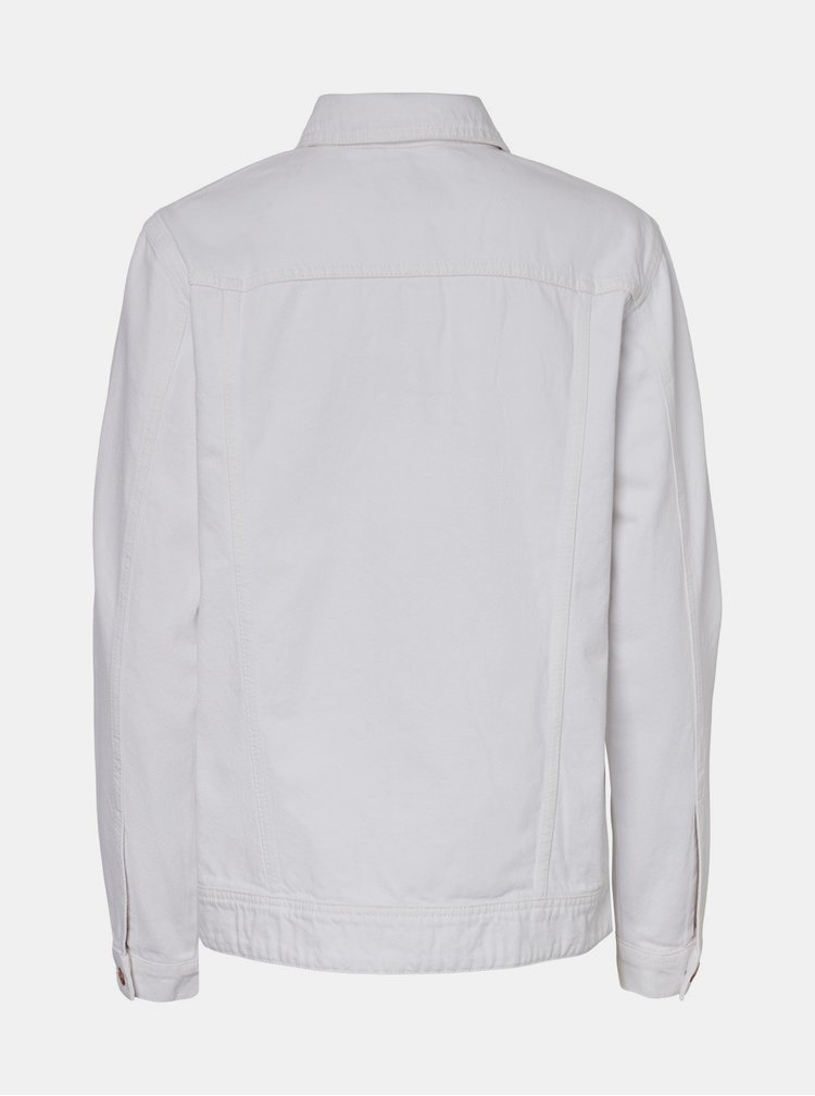 Bílá džínová bunda Noisy May Ole
