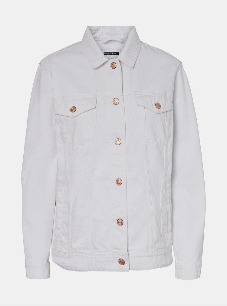 Jachete din denim pentru femei Noisy May - alb