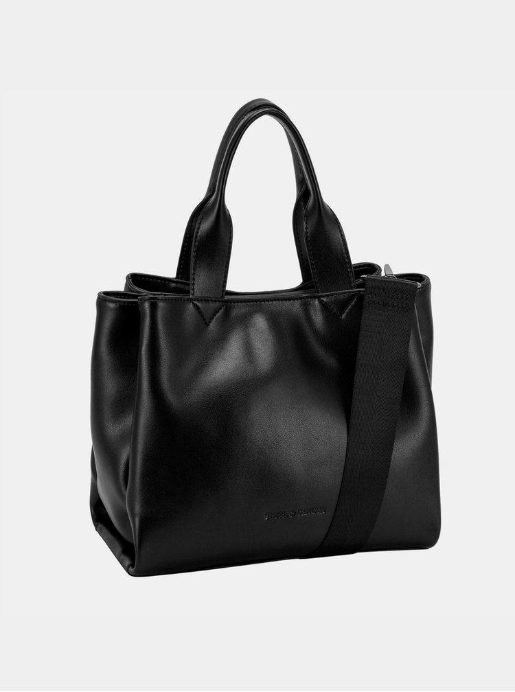 Černá kožená kabelka Smith & Canova Jensen