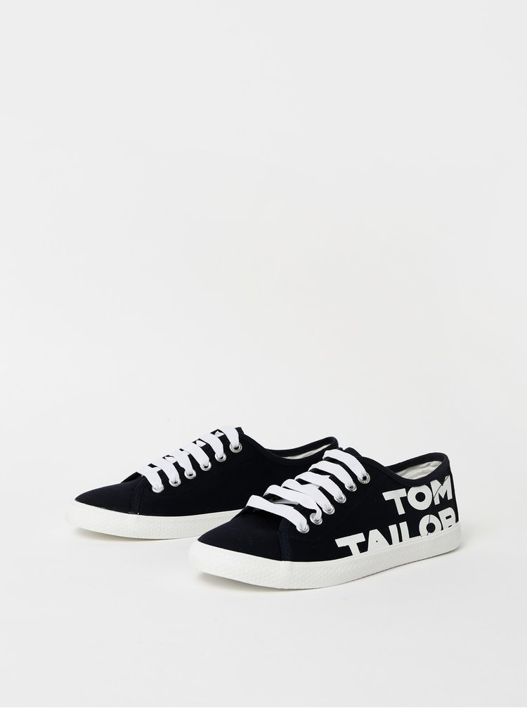 Pantofi sport si tenisi pentru femei Tom Tailor - albastru inchis