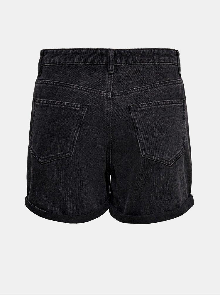 Černé džínové kraťasy ONLY Phine