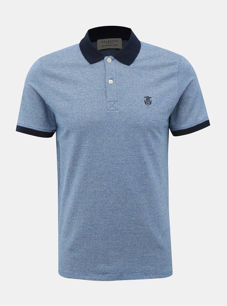 Modré polo tričko Selected Homme Haro