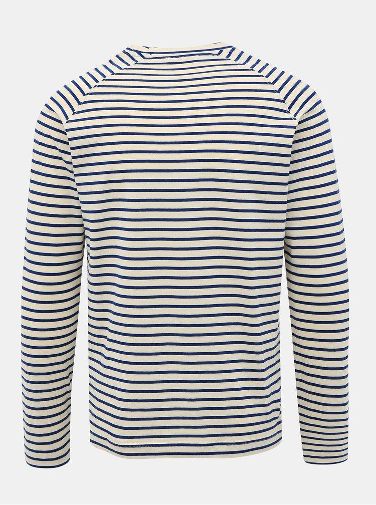 Modro-bílé pruhované basic tričko Selected Homme Tron
