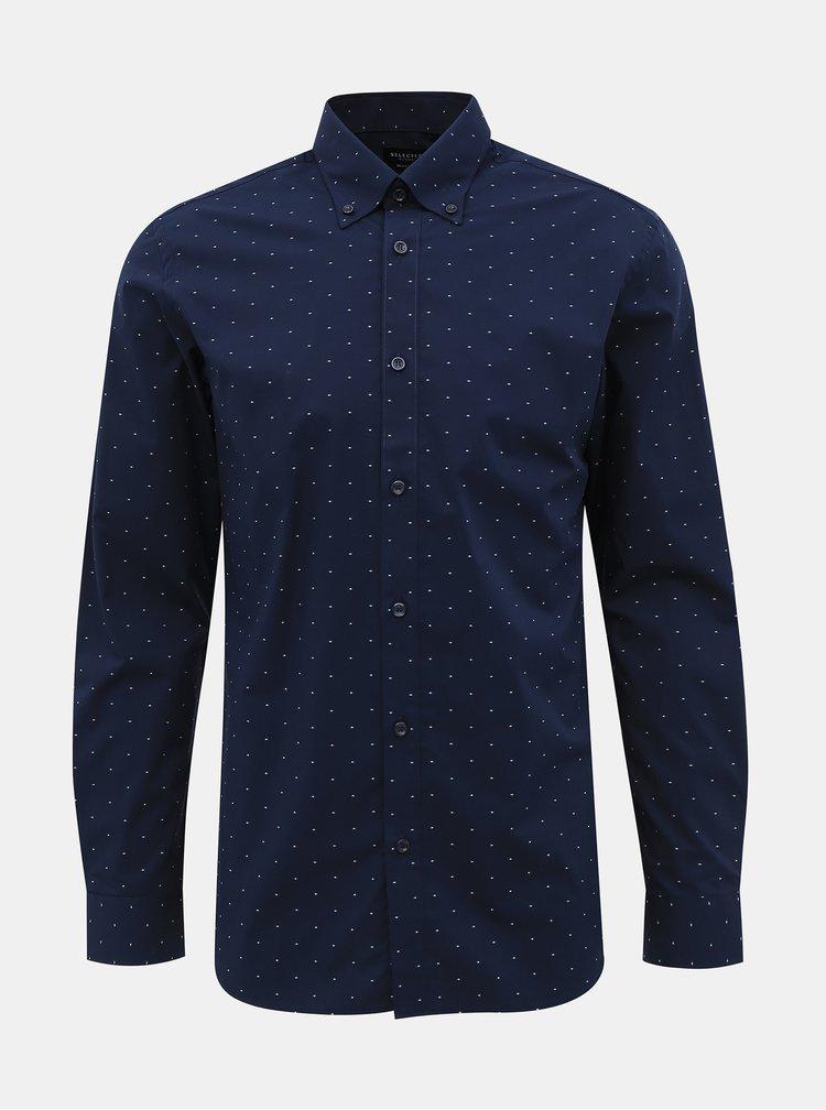 Camasi office pentru barbati Selected Homme - albastru inchis
