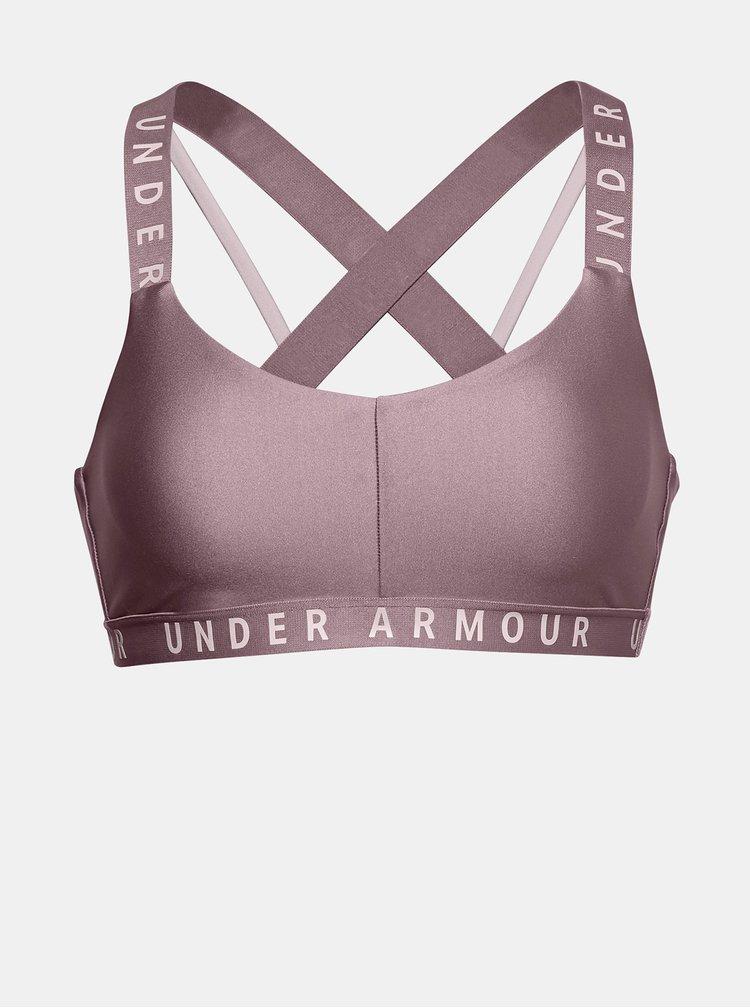 Růžová sportovní podprsenka Wordmark Under Armour
