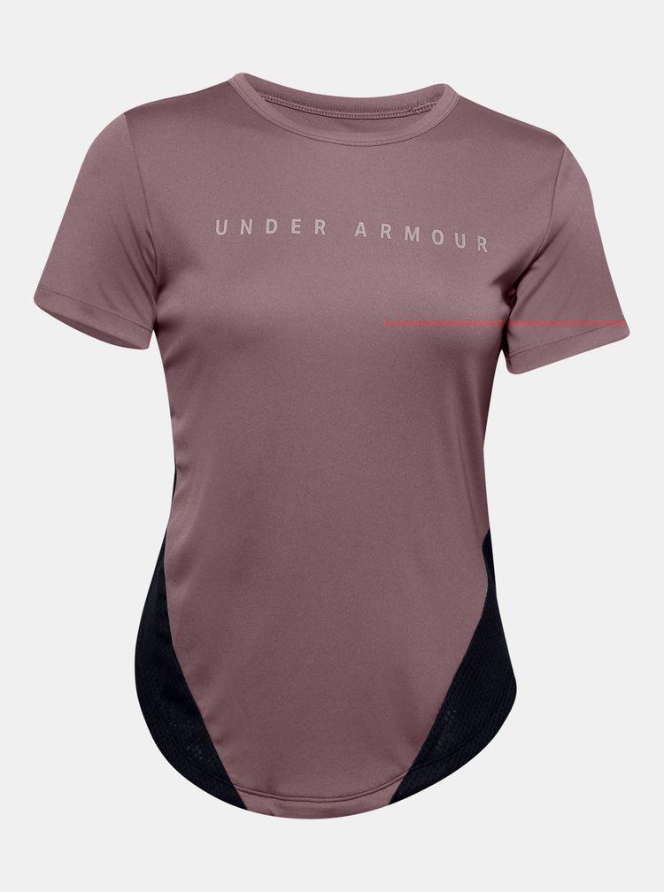 Růžové dámské tričko HeatGear Under Armour