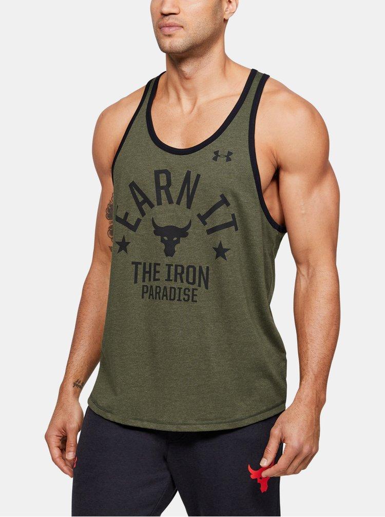 Zelené pánské tílko Rock Iron Paradise Under Armour