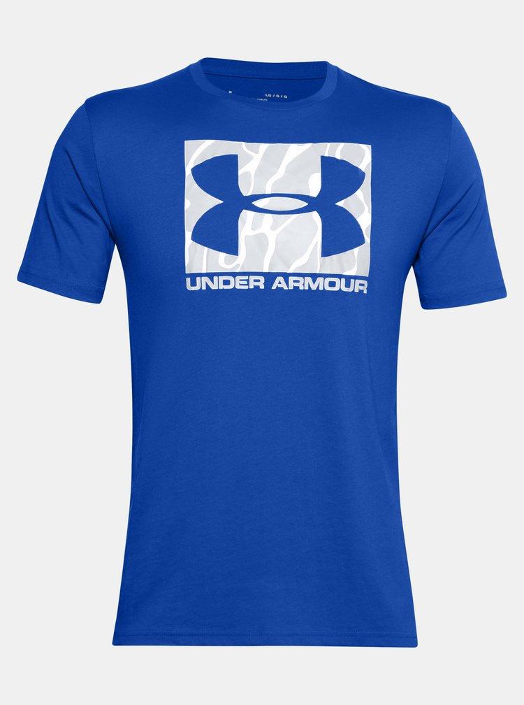 Modré pánské tričko Camo Boxed Under Armour