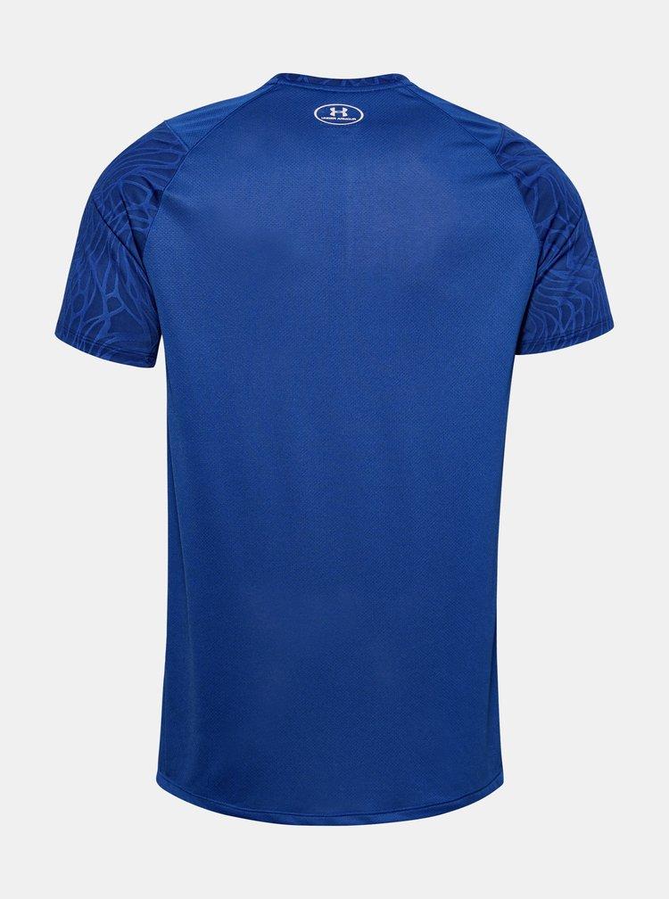 Modré pánské tričko MK1 Jacquard Under Armour