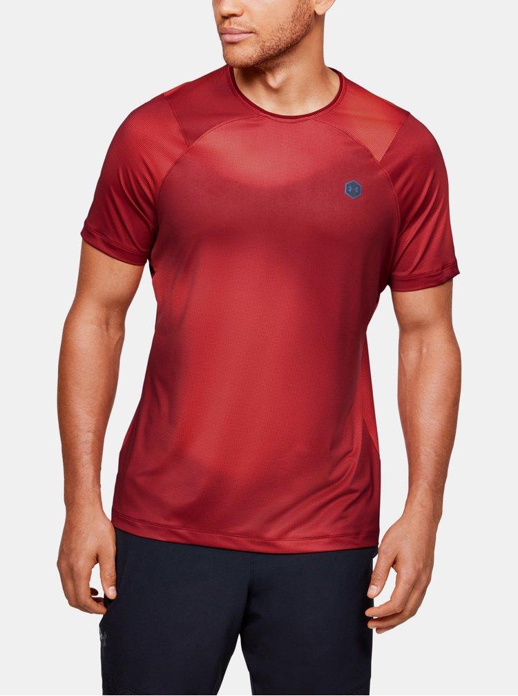 Červené pánské kompresní tričko Rush Under Armour