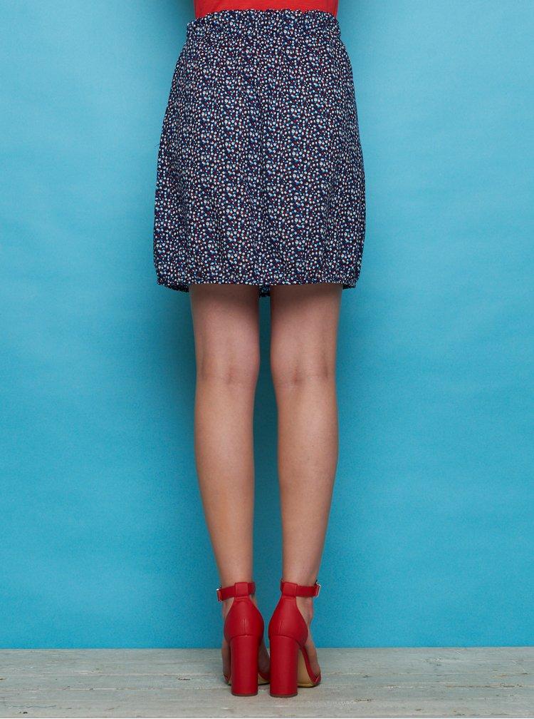 Tmavě modrá vzorovaná sukně Tranquillo