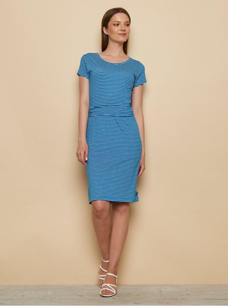 Modré pruhované šaty Tranquillo